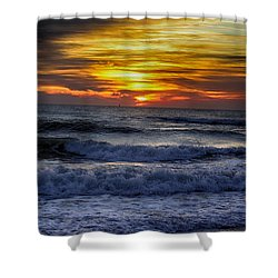 Winter North Carolina Sunrise Shower Curtain
