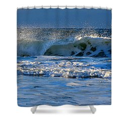 Winter Ocean At Nauset Light Beach Shower Curtain by Dianne Cowen