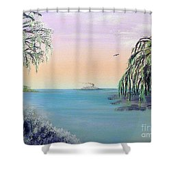 Winter On Lake Ponchartrain Shower Curtain