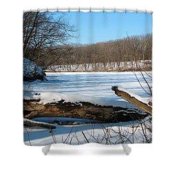 Winter On Sauk Lake 2 Shower Curtain