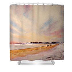 Winter On St Andrews Scotland Shower Curtain