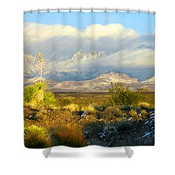 Winter In The Organ Mountains Shower Curtain by Jack Pumphrey