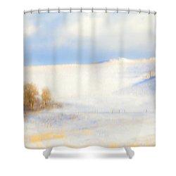 Winter Poplars Shower Curtain