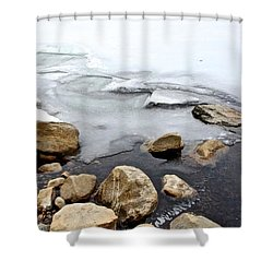 Winter Quabbin Shower Curtain by Randi Shenkman