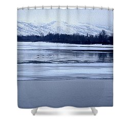 Shower Curtain featuring the photograph Winter Quiet by Kathy Bassett