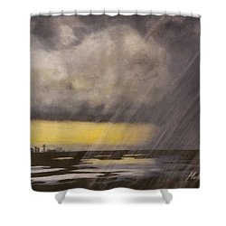 Winter Rain Shower Curtain