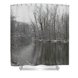 Winter Reflections 1 Shower Curtain