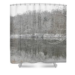 Winter Reflections 2 Shower Curtain