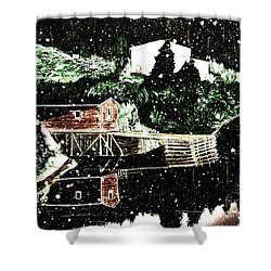 Winter Reflections Shower Curtain by Barbara Griffin