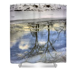 Winter Reflections Shower Curtain by John  Greaves