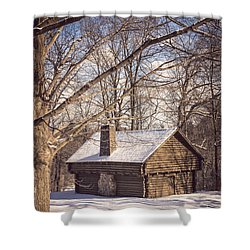 Winter Retreat Shower Curtain by Sara Frank