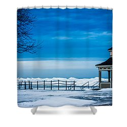 Winter Rhapsody Shower Curtain by Sara Frank