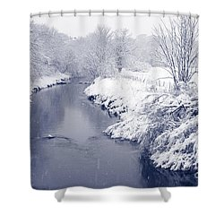 Shower Curtain featuring the photograph Winter River by Liz Leyden