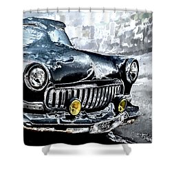 Winter Road Warrior Shower Curtain
