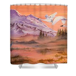 Winter Sanctuary Shower Curtain by Sherry Shipley