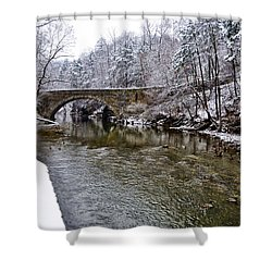 Winter Scene At Valley Green Shower Curtain by Bill Cannon