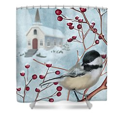 Winter Scene I Shower Curtain