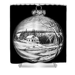 Winter Scene Ornament Shower Curtain by Peter Piatt