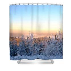 Winter Scenery Of The Lake Hiidenvesi Shower Curtain