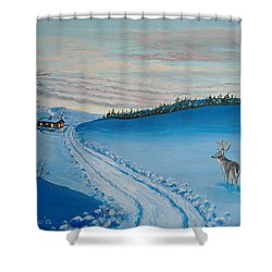 Winter Sentinel Shower Curtain by Norm Starks