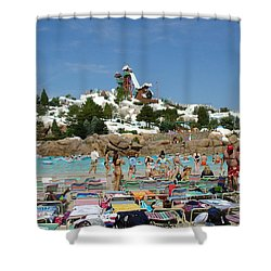 Shower Curtain featuring the photograph Winter Shore Line by David Nicholls