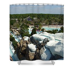 Shower Curtain featuring the photograph Winter Slides by David Nicholls