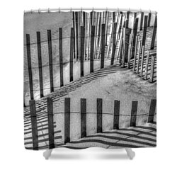 Winter Snowfence 2 Shower Curtain