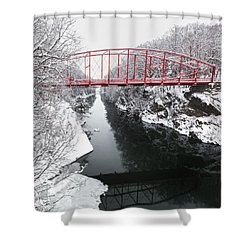 Winter Solitude Square Shower Curtain