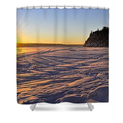 Winter Solstice Shower Curtain by Cathy Mahnke