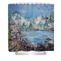 Winter Solstice Shower Curtain by Ellen Levinson