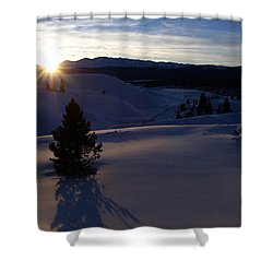 Winter Solstice Shower Curtain by Jeremy Rhoades