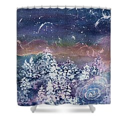 Shower Curtain featuring the painting Winter Solstice  by Kathy Bassett