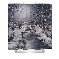 Winter Solstice Shower Curtain by Megan Walsh
