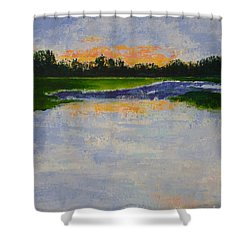 Winter Solstice Sunrise Shower Curtain