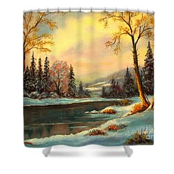Winter Splendor Shower Curtain