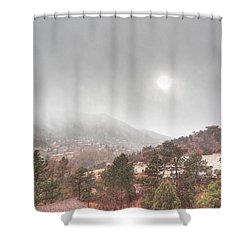 Winter Storm In Summer With Sun Shower Curtain by Lanita Williams