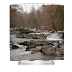Shower Curtain featuring the photograph Winter Stream by Geraldine DeBoer
