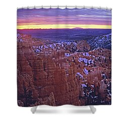 Shower Curtain featuring the photograph Winter Sunrise At Bryce Canyon by Susan Rovira