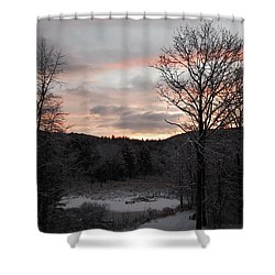 Shower Curtain featuring the photograph Winter Sunrise by Mim White
