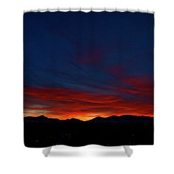 Winter Sunset Shower Curtain by Jeremy Rhoades