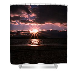 Shower Curtain featuring the photograph Winter Sunset by Karen Silvestri