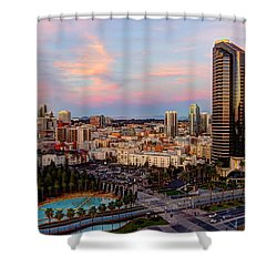 Shower Curtain featuring the photograph Winter Sunset San Diego by Heidi Smith