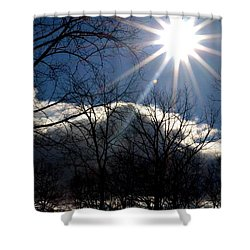 Shower Curtain featuring the photograph Winter Sunshine by Carlee Ojeda