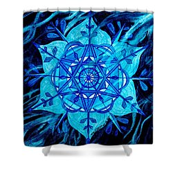 Winter Shower Curtain by Teal Eye  Print Store