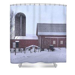 Winter Time Garrett County Maryland Shower Curtain by Dan Friend