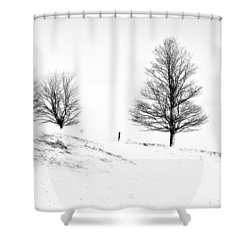 Winter Trinity Infrared Shower Curtain by Steve Harrington