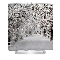 Shower Curtain featuring the photograph Winter Walk In Fairytale  by Annie Snel