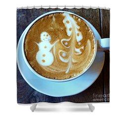 Winter Warmth Latte Shower Curtain by Susan Garren