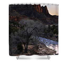Winter Watchman Shower Curtain by Chad Dutson