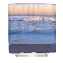 Winter Waves 7 Shower Curtain by Priya Ghose